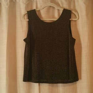 Anne Taylor Shimmer Gold Beaded Tank
